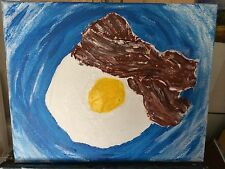 Bacon and Eggs Original Abstract Painting Contemporary Modern Art