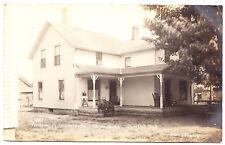 The Parsonage, Lutheran Church, Burr Oak MI RPPC 1908