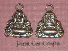 5 x Tibetan Silver BUDDHA Double Sided Charms Pendants Beads