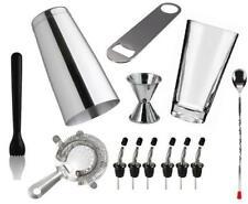 kit barman accessori 19 pezzi shaker pestello metal pour - Idea regalo