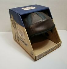 WEMBLEY THE OLD LEATHERHEAD VINTAGE-STYLE LEATHER FOOTBALL HELMET COLLECTABLE