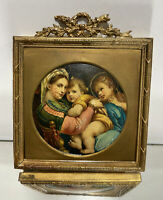 VTG French/Italian Gold Gilt Metal Picture Frame w/ Picture