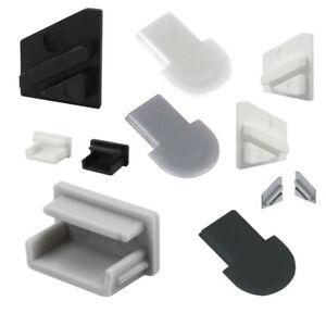 Endkappen Endkappe grau weiß schwarz 2-er Set für LED Alu Profil 4236-4237-4238