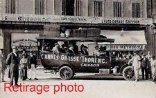 Retirage Photo Copie CANNES GRASSE THORENC AUTOBUS CAISSON au départ auto garage