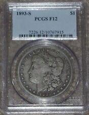 "1893-S Morgan Dollar Graded PCGS F12  ""The Moster Key"" !!!"