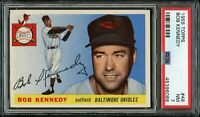 1955 Topps BB Card # 48 Bob Kennedy Baltimore Orioles PSA NM 7 !!!