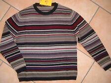 (C164) Leichter ETRO Milano Boys Rundhals Pullover 100% Wolle gestreift gr.104