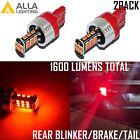 Alla Lighting 7443 30-LED Brake Tail Turn Signal Light Bulbs Blinker Lamps, Red