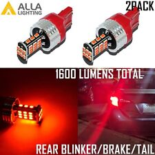 Alla Lighting 7443 30-LED Brake Tail Turn Signal Light Bulbs Blinker Lamps, Red