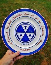 1936 Vintage POST-L Souvenir Plate TRAVELERS PROTECTIVE ASSOCIATION ALLENTOWN PA