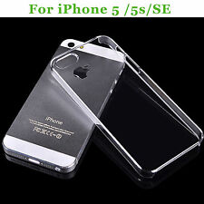 For iPhone 5/5S/SE case Transparent Case Plastic Crystal Clear Protective Cover