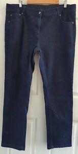 Ladies size 18 Dark Blue Stretch Denim Straight Leg denim jeans