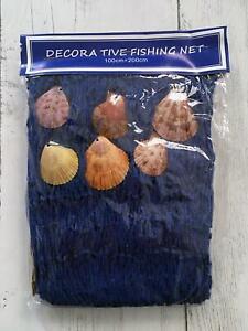 Decorative Display Fishing Net Nautical Seaside Wall Hanging Photo Deco Net