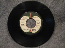 "45 RPM 7"" Record Ringo Starr Call Me & Only You 1974 Apple Records 1876"