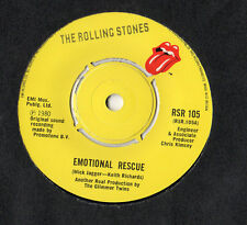 "The Rolling Stones - Emotional Rescue / Down The Hole7"" Single 1980"