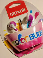 NEW Maxell M2 ColorBuds Earbuds Purple 3.5MM 4 ft Cable CB-Purple 190546