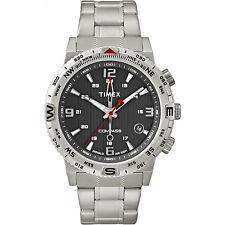 Timex Men's Intelligent Quartz | Compass Stainless Steel Bracelet & Case T2P289
