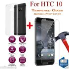 Clear TPU Gel Skin Case Cover+9H Tempered Glass Slim Protector For HTC 10/ONE A9