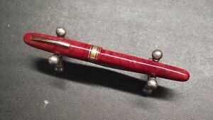 Omas AM87 (555/S) Briarwood Fountain Pen 585 EF Nib