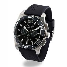LOCMAN orologio uomo cronografo STEALTH cinturino e quadrante nero