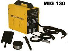 Soldador hilo continuo sin gas MIG 130A 230V ROYAL POWER envío en 24/48 Horas