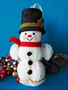 Hallmark Ornament  Yarn Snowman Ornament