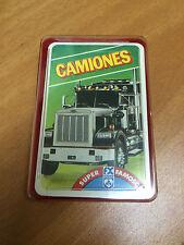 baraja cartas infantil CAMIONES cuartetos tecnicos super famosos no fournier