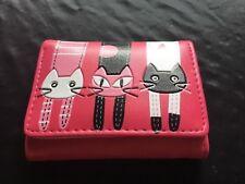 LADIES NOVELTY CUTE CAT PINK WALLET