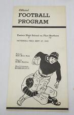 Vntg 1940 EASTERN HS vs FLINT NORTHERN HS FOOTBALL GAME PROGRAM Michigan SPORTS
