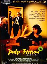 PULP FICTION 1994 John Travolta, Bruce Willis, Uma Thurman GERMAN POSTER