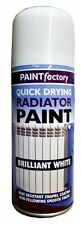 2 X NEW QUICK DRYING RADIATOR PIPE PAINT CAN ULTRA TOUGH GLOSS WHITE SPRAY 200ML