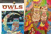 Coloring Book Owl Adults and Children Stress Relieving Art Animal Coloring Books