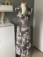 Olsen Size 12 Sleeveless  Midi Dress With Cami Front And Stretch - Immaculate