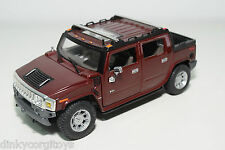 MAISTO HUMMER H2 METALLIC MAROON NEAR MINT CONDITION.