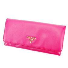 Auth PRADA purse Wallet logo ladies used J20581