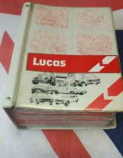 LUCAS PARTS CATALOGUES IN ( MASTER ) BINDER, 1970's & 80's