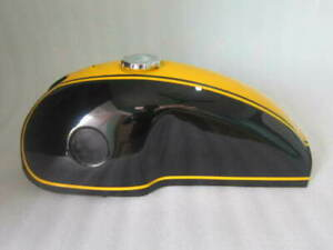 Fuel Petrol Tank With Cap Black And Yellow Painted Benelli Mojave (Steel)