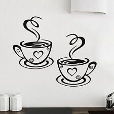 Coffee Cups Wall Sticker Tea Cup Home Kitchen Restaurant Cafe Decal Vinyl Decor