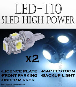 4 pc T10 168 194 5 LED 5050 Chip White Replacement Front Parking Light Bulb Y122