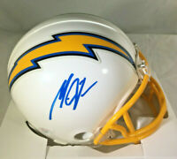 MELVIN GORDON / AUTOGRAPHED LOS ANGELES CHARGERS LOGO RIDDELL MINI HELMET / COA