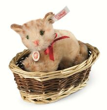 Steiff Ginny Kätzchen im Korb 12 cm aus Mohair 034374