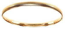 """Eterna-Gold 6.2 grams 14 KT Yellow Gold Omega Pattern Bangle 7-1/2"""" Bracelet"""