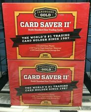 PLEASE READ LOT OF 2 Cardboard Gold Card Saver II BOX 400 SLEEVES SMALL/ POKEMON