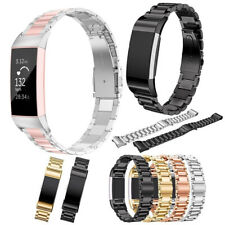 Stainless Steel Watch Band Wrist Strap Metal Bracelet For Fitbit Charge 3 / 4