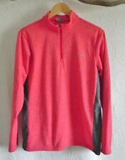 Columbia Long Sleeve High/Zip Neck Fleece Interior Light Red/Gray Size S