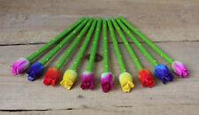 10 TULPEN BLEISTIFTE Blüten Stifte Blumen Holzbleistift Bleistifte mit Blüten