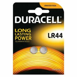 2 x Duracell LR44 A76 1.5V Alkaline Batteries L1154 G13 SR44 AG13 357