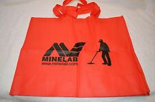 MINELAB ~ ACCESSORIES ~ RED BAG with BLACK MINELAB LOGO ~ TOTE BAG ~ NEW