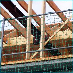 Seitenschutznetz 10 x 1,5 m DIN-EN 1263-1 mit Gurtschnellverschlüssen PP, grün