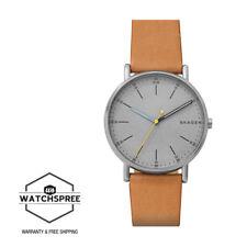 Skagen Men's Signatur Tan Leather Watch SKW6373